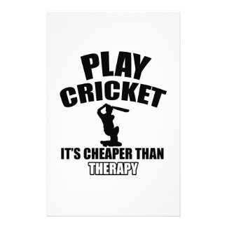 cricket   design stationery