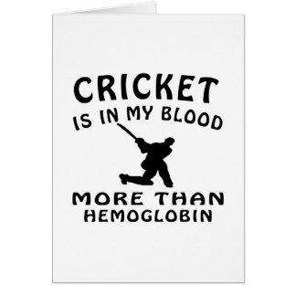 Cricket designs greeting card