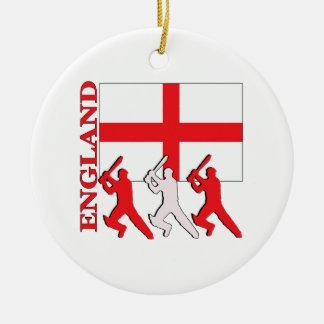 Cricket England Ceramic Ornament