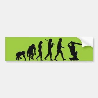 Cricket - Evolution of cricket Bumper Sticker