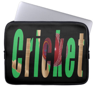 Cricket Game Logo, 13 inch Laptop Sleeve