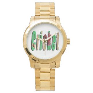 Cricket Game Logo, Large Unisex Gold Watch