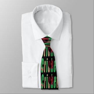Cricket Game Logo, Unisex Black Silky Tie. Tie