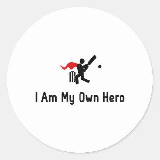 Cricket Hero Round Sticker