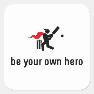 Cricket Hero Square Sticker