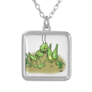 Cricket hug.JPG Silver Plated Necklace