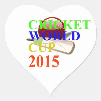 Cricket Image Heart Sticker