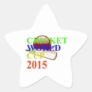 Cricket Image Star Sticker