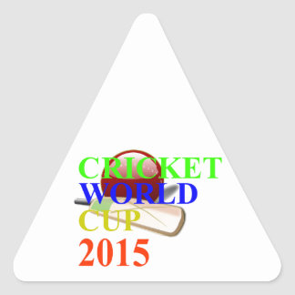 Cricket Image Triangle Sticker