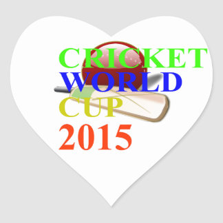 Cricket Image Heart Stickers