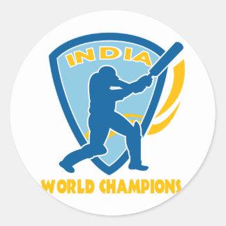 cricket india world champions batsman batting sticker