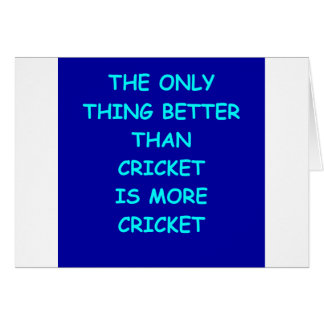 cricket joke card