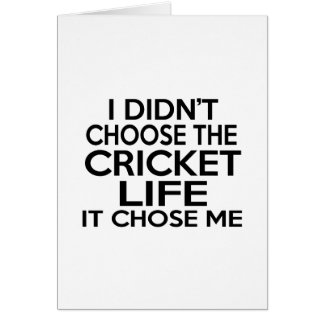 CRICKET LIFE DESIGNS GREETING CARD