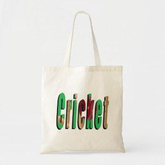 Cricket Logo, Budget Tote Carry Bag