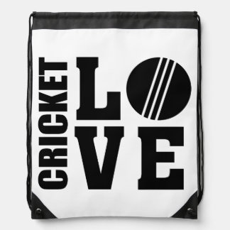 Cricket love, Cricket Drawstring Bag