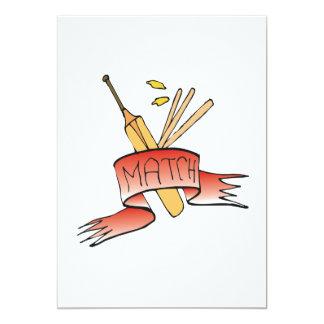 Cricket Match 13 Cm X 18 Cm Invitation Card
