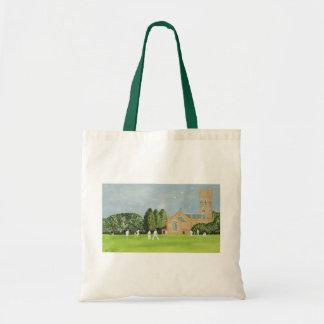 Cricket on Churchill Green Tote Bag