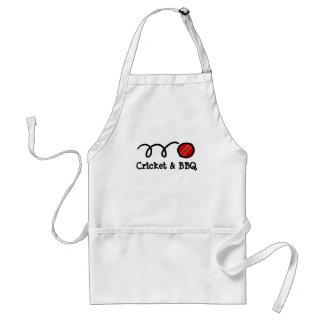 Cricket party BBQ apron   customizable text