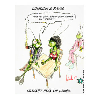Cricket Pick-Up Lines Funny Gifts Tees Collectible 21.5 Cm X 28 Cm Flyer