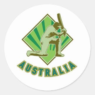 Cricket player batsman batting Australia Stickers