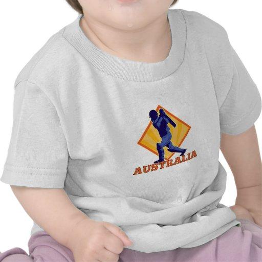 Cricket player batsman batting Australia T Shirts