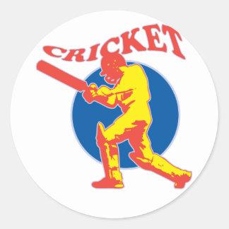 cricket player batsman batting retro stickers