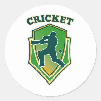 cricket player batsman batting shield stickers