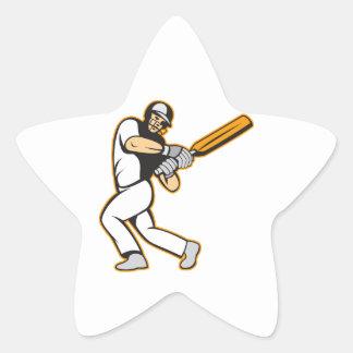 Cricket Player Batsman Batting Star Stickers