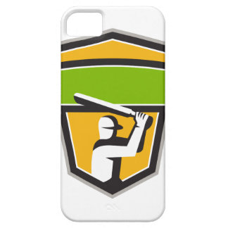Cricket Player Batting Crest Retro Case For The iPhone 5