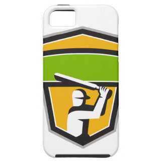 Cricket Player Batting Crest Retro iPhone 5 Cover