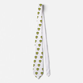 Cricket Player Batting Crest Retro Tie
