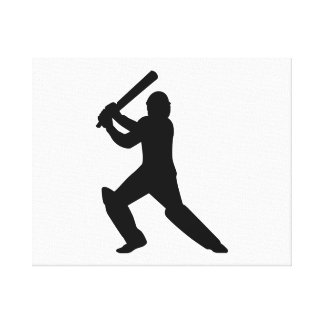 Cricket player canvas print