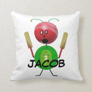 Cricket Player Cartoon Cushion
