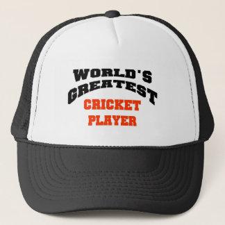 Cricket player trucker hat