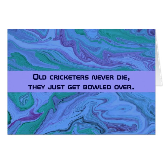 cricket players humour card