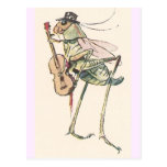 Cricket Playing the Fiddle Post Card