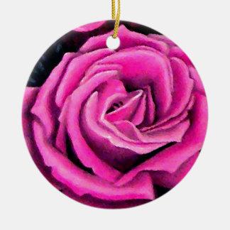 Cricket s Pink Rose Romantic Christmas Keepsake Ornament
