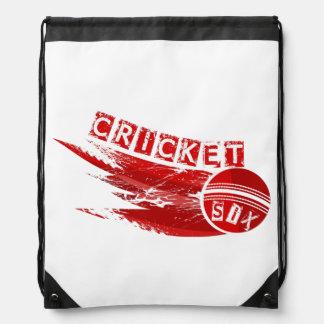 Cricket Sixer Drawstring Bag