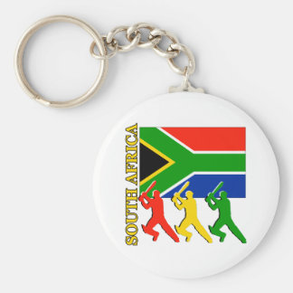 Cricket South Africa Basic Round Button Key Ring