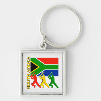 Cricket South Africa Silver-Colored Square Key Ring