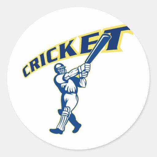 cricket sport batsman batting sticker