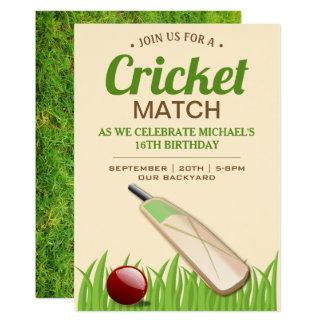 Cricket Sport Birthday Party invitation