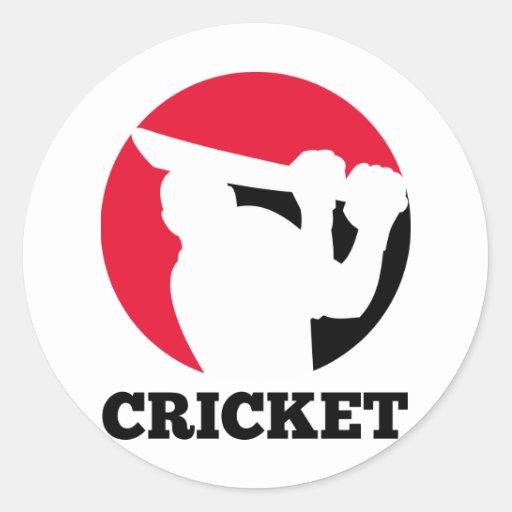 cricket sports batsman batting silhouette stickers