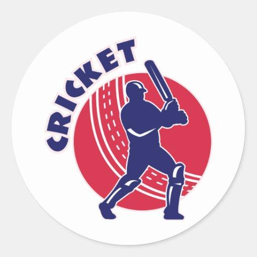 cricket sports batsman batting stickers