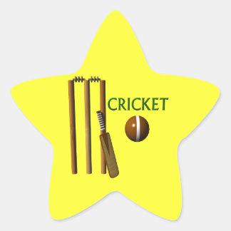 Cricket Star Sticker