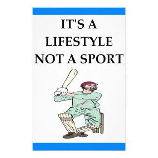 cricket stationery