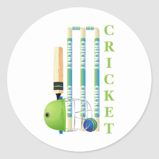 Cricket Tees and Gifts - Personalize Round Sticker