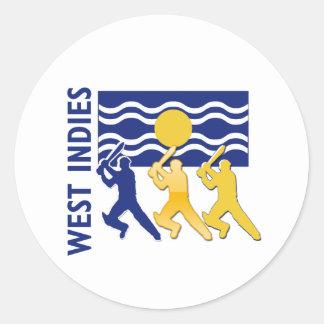 Cricket West Indies Round Sticker