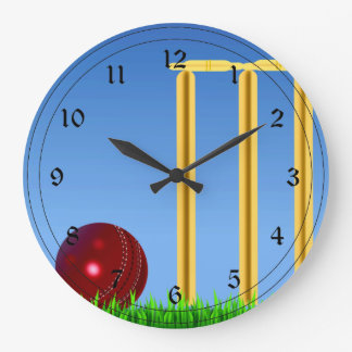 Cricket, wicket and ball clock