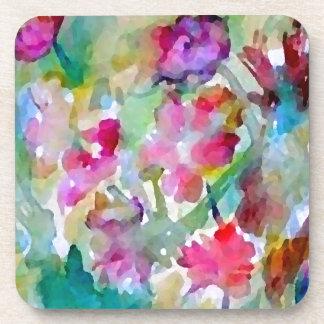 CricketDiane Flower Garden Watercolor Abstract Beverage Coasters